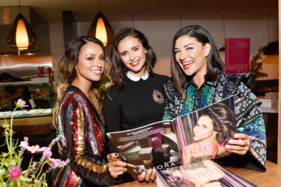 Nina Dobrev celebrates the harper by Harper's BAZAAR [22 августа]