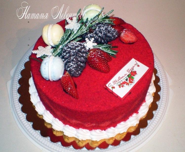 Новогодний торт оформление фото