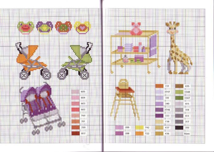 Вышивка схема на детских вещах 170