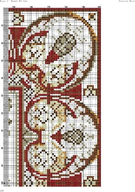Схемы для вышивки коврика крестом 161